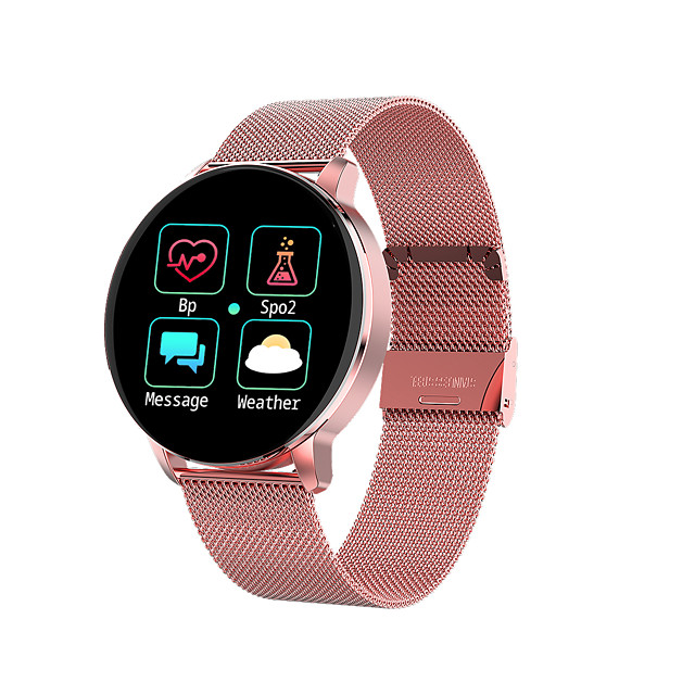R5 Smartwatch Stainless Steel BT Fitness Tracker Support Notify/ Blood Pressure Measurement Sports Smart Watch Compatible Samsung/ Iphone/ Android Phones