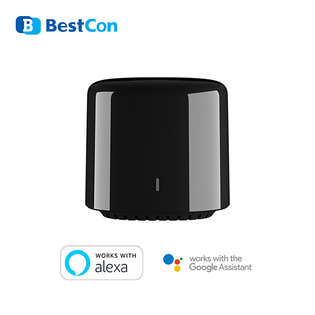 New BroadLink BestCon RM4C mini Wi-Fi Smart Universal Remote Control IR&RF Universal Remote works with Google Home Alexa Smart Home HUB External Sensor