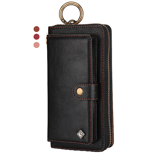 Leather Case For iPhone 11 Pro Max XR XS Max 8 Plus 7 Plus 6 Plus Pola Brand Multifunction Wallet Genuine Leather Shockproof Solid Colored Cases