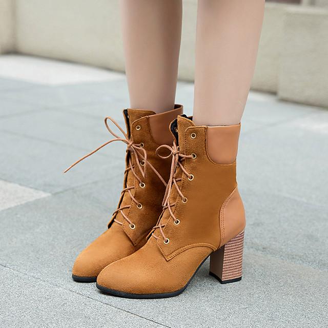 Womens Boots Sock Boots Block Heel Boots Chunky Heel