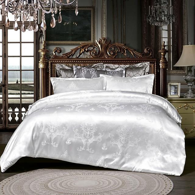 Duvet Cover Sets luxurious Jacquard 3pcs Bedding Set With Pillowcase Bed Linen Sheet Single Double Queen King Size