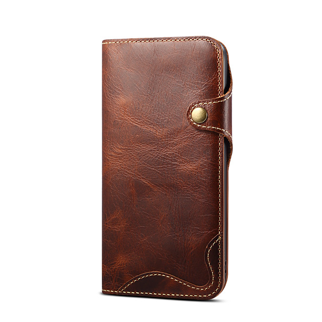 Case For iPhone 12 Card Holder Shockproof Back Cover Solid Colored PU Leather TPU
