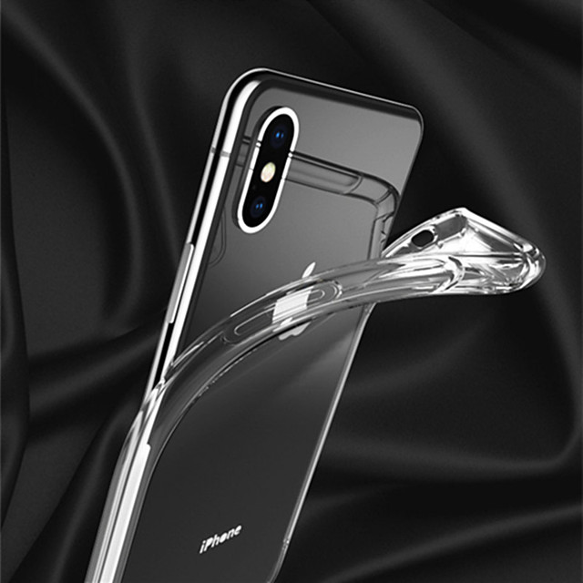Applicable Apple iphonexs Mobile Phone Cases XSMAX Protective Case XR Airbag Drop-proof Transparent Soft Shell 6D Transonic Hole