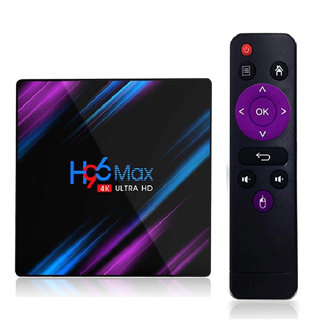 H96 Max Rk3318 Smart Tv Box Android 9.0 4GB Ram 32GB 64GB 4k Wifi Media Player Google Voice Assistant Netflix Youtube Hdr Bt4.0 Usb 3.0 Airplay Goole Play Set Top Box 2GB 16GB H96max