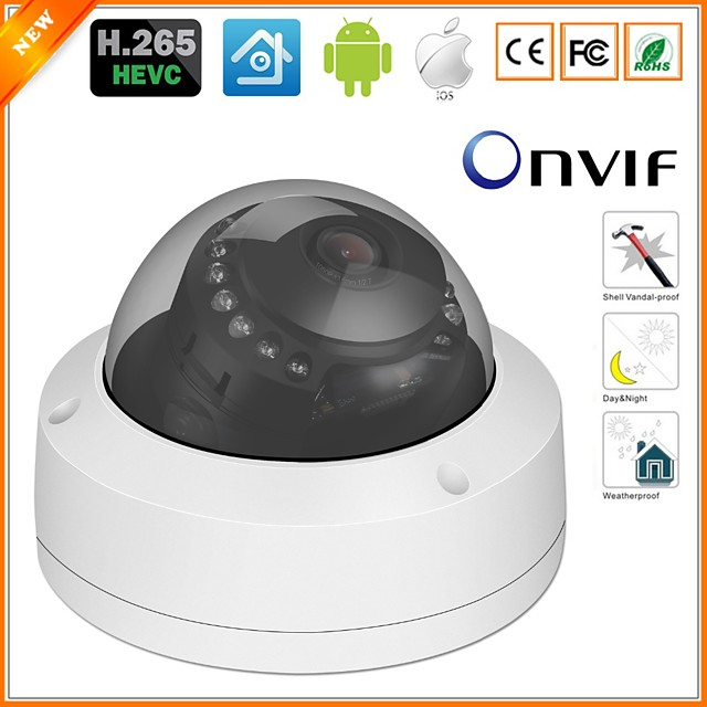 S-007 3.6MM 1080P 2MP POE IP Camera CCD P2P H.265 IP66 Waterproof Outdoor Remote Access IR-cut Home Security Camera for Shops / Cafes / Garage