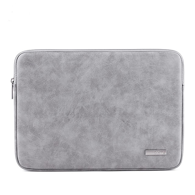 13.3 Inch Laptop / 14 Inch Laptop / 15.6 Inch Laptop Sleeve PU Leather Solid Colored for Men for Women Unisex Shock Proof
