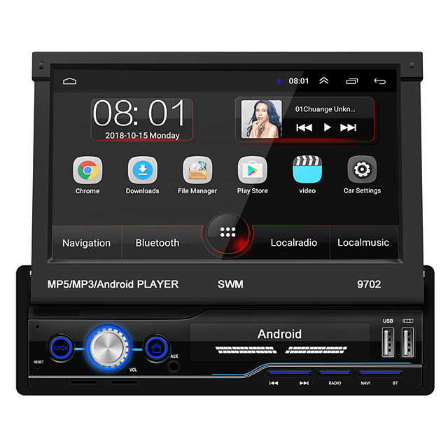 SWM 9702 7 inch 1 DIN Android 8.1 In-Dash Car DVD Player / Car MP5 Player / Car MP4 Player Touch Screen / GPS / Built-in Bluetooth for universal RCA / HDMI / FM2 Support MPEG / MPG / WMV MP3 / WMA