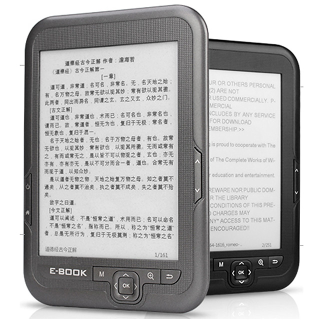 LITBest 4/8/16G E-ink E Book Linux Reader Ebook 3.5mm Headphone Eink Screen E-Book E-Reader with case MP3 WMA PDF HTML