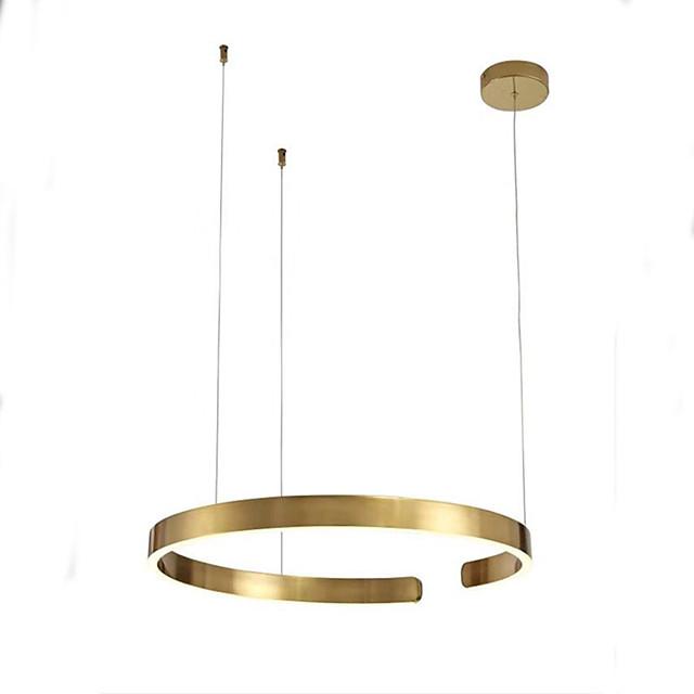 60cm LED Pendant Light Gold Ring Light Island Light Modern Living Dinning Room Bedroom Metal Electroplated 110-120V 220-240V