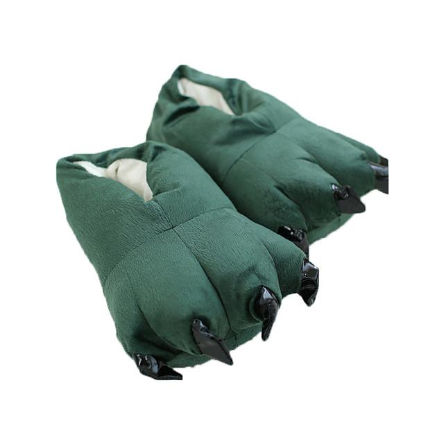 Adults' Kigurumi Pajamas Slippers Dinosaur Animal Onesie Pajamas Polyester Cotton Green Cosplay For Men and Women Animal Sleepwear Cartoon Festival / Holiday Costumes / Shoes
