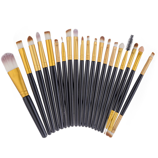 Professional Makeup Brushes 20 Eco-friendly Professional Full Coverage Adorable Comfy Plastic for Makeup Set Makeup Tools Makeup Brushes Eyeliner Brush Foundation Brush Makeup Brush Lip Brush Lash