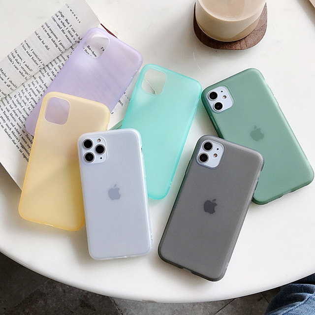 Case For Apple iPhone 11 / iPhone 11 Pro / iPhone 11 Pro Max Dustproof Back Cover Solid Colored TPU