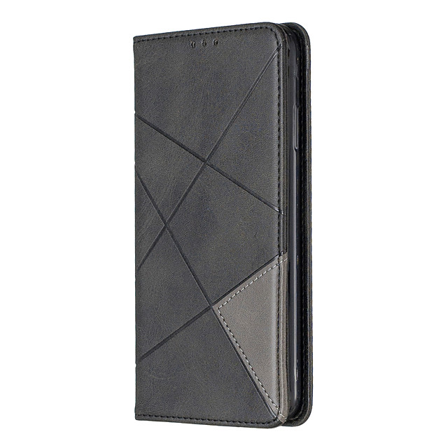 Case For Samsung Galaxy A31 A70E A41 A11 M11 Card Holder with Stand Embossed Full Body Cases Geometric Pattern PU Leather for Galaxy A70 A50 A50S A30S A30 A20 A20E M10 Note10 Plus Note10