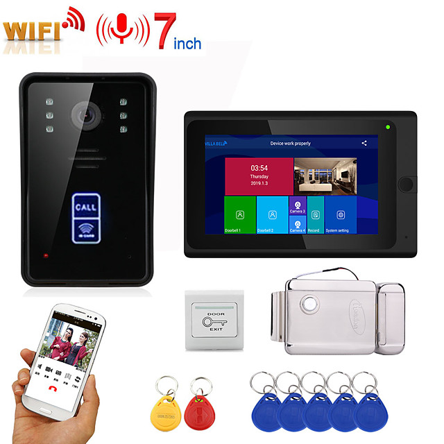 MOUNTAINONE SY703BMJIDEND11 Wired & Wireless Built in out Speaker 7 inch Hands-free One to One video doorphone