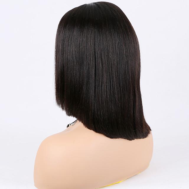 Echthaar Spitzenfront Perücke Asymmetrischer Haarschnitt ...