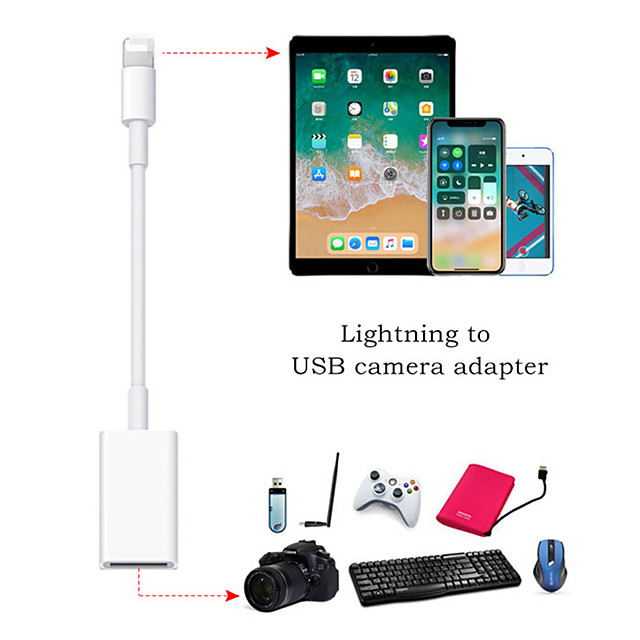 OTG Cable Data Converter for iPhone iPad Keyboard Connector USB Cable Earphones Converter Electric Piano for iPhone Adapter