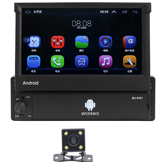 SWM 9701 7 inch 2 DIN Android 8.1 Car MP5 Player / Car MP4 Player / Car MP3 Player Touch Screen / GPS / Built-in Bluetooth for universal RCA / HDMI / FM2 Support MPEG / MPG / WMV MP3 / WMA / WAV JPEG
