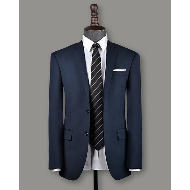 Slate blue birdseye wool custom suit