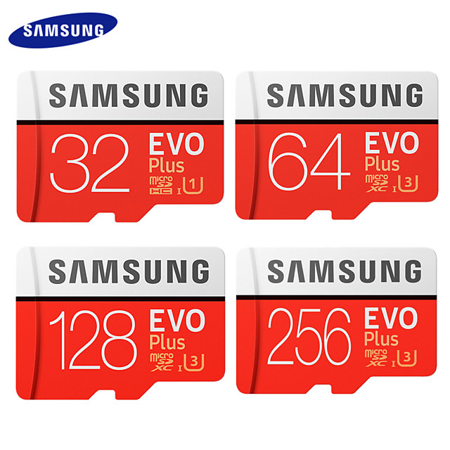 SAMSUNG EVO Plus 64GB Micro SD Card 128G 32G TF Card 100MB/s C10 SDHC SDXC UHS-I U3 Memory Card