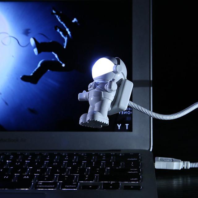 Spaceman flexibil astronaut tub usb led led lampă de noapte pentru laptop laptop computer laptop laptop