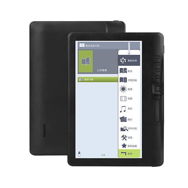 LIBTest 4G8G/16G 7 inch Ebook reader LCD Color Screen Smart with HD Resolution Digital E-book Support Russian Spanish Portuguese