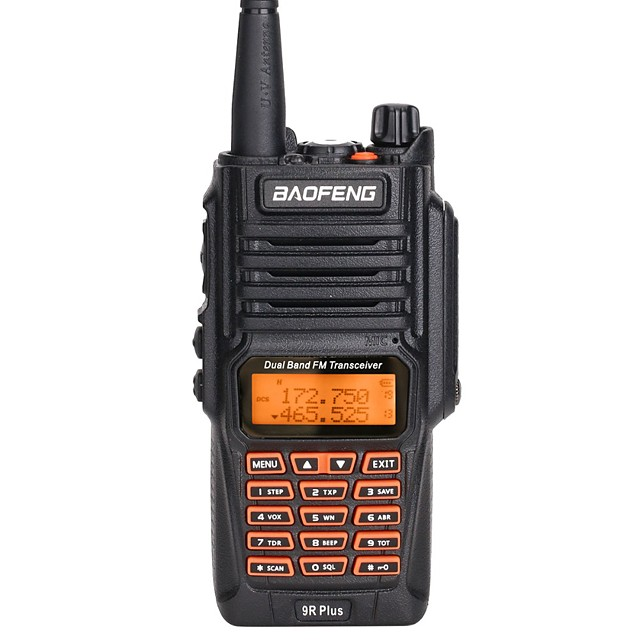 Baofeng UV-9R Plus 8W High Power 2800mAh Battery UHF VHF Dual Band IP67 Waterproof Walkie Talkie Upgraded BF-UV9R Radio
