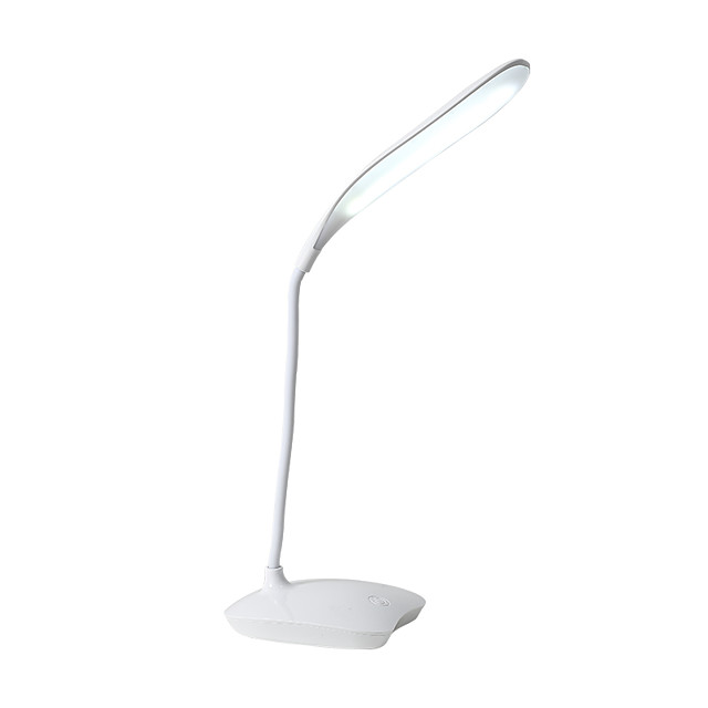 Table Lamp / Desk Lamp / Reading Light Eye Protection / Adjustable Simple / Modern Contemporary Built-in Li-Battery Powered For Bedroom / Study Room / Office PVC White