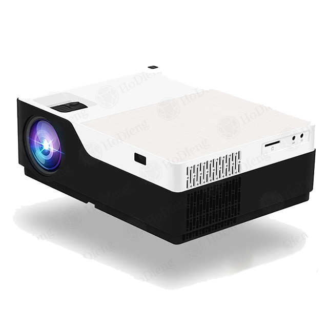 HoDieng HD18 1920x1080P Android 9.0 WIFI Support AC3 4K 200inch Full HD 1080P LED Projector Video Proyector for Home Theater 5500lumen M18