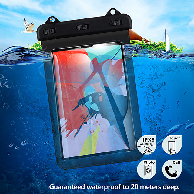 Universal Tablet Waterproof Case For 10.2 Inch Ipad 2019 iPad Pro10.5 Air iPad 2 3 4 mini 5 Protect Dry Bag Pouch Tablet Accessories Dropshipping