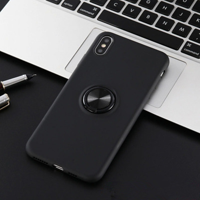 Apple xs max/7 8plus mobile phone case for iphonexr protective cover magnetic 6S car ring bracket
