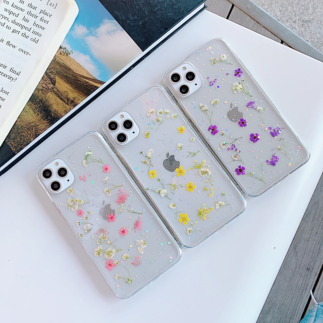 Case For Apple iPhone 11 / iPhone 11 Pro / iPhone 11 Pro Max Transparent / Pattern Back Cover Transparent / Flower TPU