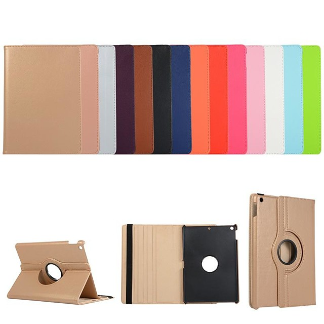Case For Apple iPad Air / iPad 4/3/2 / iPad Mini 3/2/1 360° Rotation / Shockproof / with Stand Full Body Cases Solid Colored PU Leather
