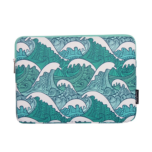 13.3 Inch Laptop / 14 Inch Laptop / 15.6 Inch Laptop Sleeve Polyester Lines / Waves for Women Unisex Shock Proof