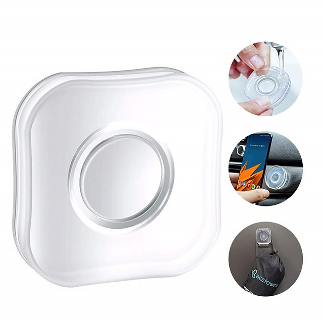 1pcs Nano Gel Pad Traceless Magic Stickers Washable Multi-Functional Universal Sticky Car Phone Holder Application for Car Home Office Storage of Various Small Device and Items