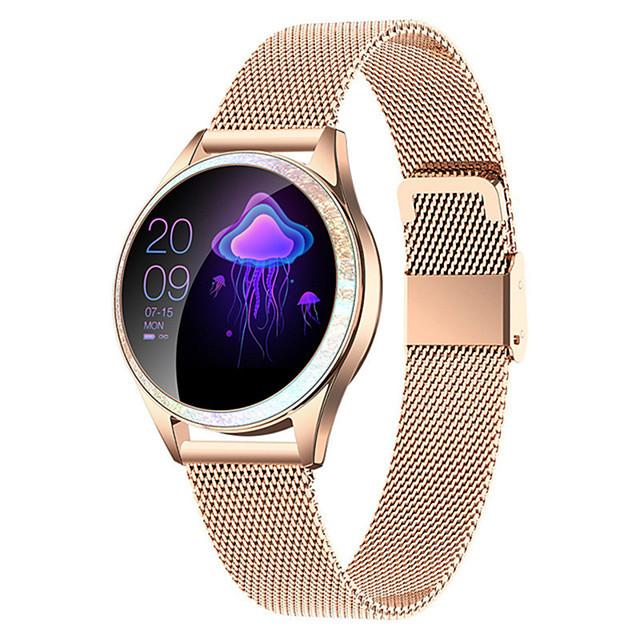 kw20 smartwatch rustfritt stål bt fitness tracker support varsle / pulsmåler sport vanntett smartklokke for samsung / iphone / android telefoner