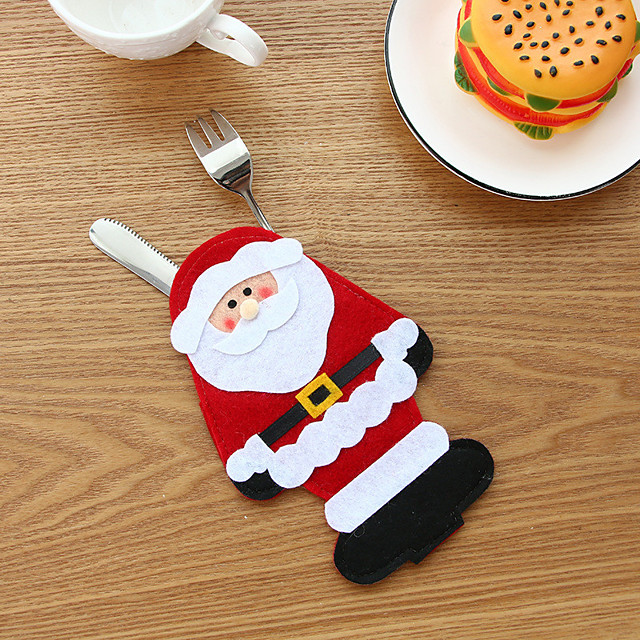 Christmas Storage / Gift Bags Non-woven Cube / Mini Cartoon / Party / Novelty Christmas Decoration
