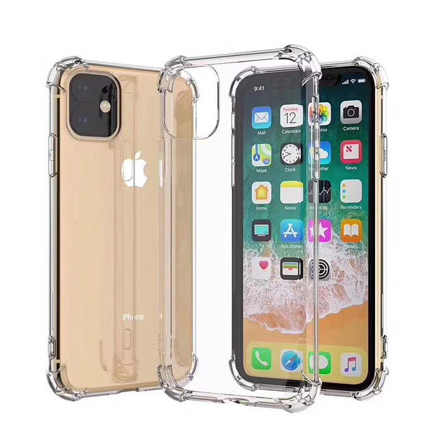 Case For Apple iPhone 11 / iPhone 11 Pro / iPhone 11 Pro Max Shockproof / Dustproof / Ultra-thin Back Cover Transparent / Solid Colored TPU