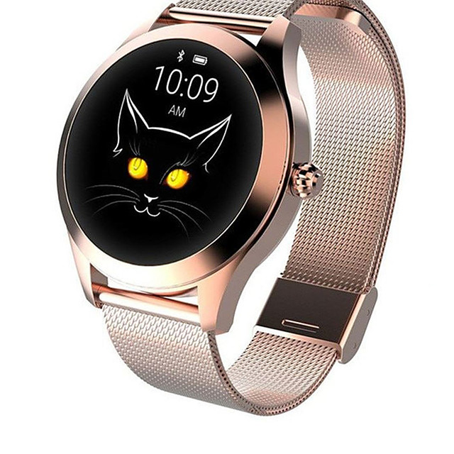 KW10 Joker Smartwatch Gold Stainless Steel BT Fitness Tracker Support Notify/ Heart Rate Monitor Sport Smart Watch for Samsung/ Iphone/ Android Phones