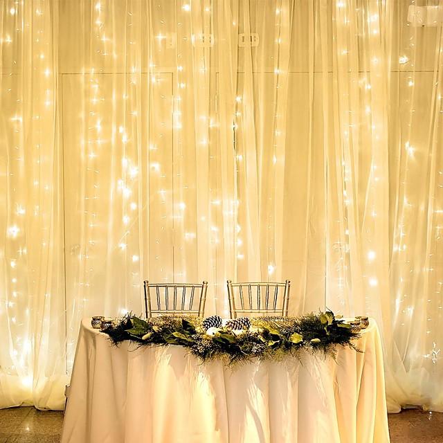 1pcs 3*2m LED Curtain String Lights 240LEDS Christmas Fairy Lights Garland Home Decorative Lights for WeddingPartyGarden Decoration