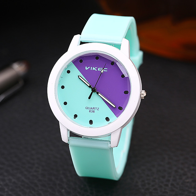 Men and Women Sport Watch Quartz Silicone White / Blue / Pink Chronograph Cute New Design Analog New Arrival Fashion - White Purple Blushing Pink One Year Battery Life