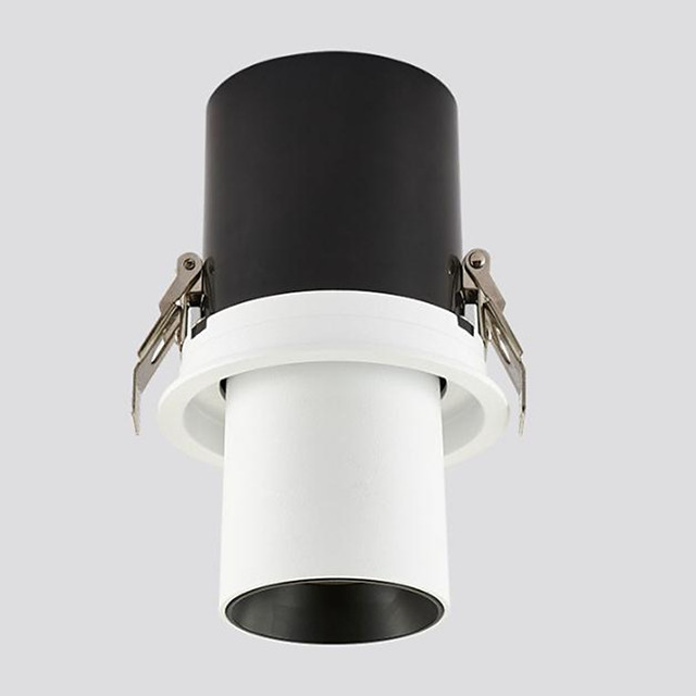 LED Embedded Telescopic Stretchable Spotlights Clothing Store Track Lights Gallery Museum Background Wall Skylight 15W