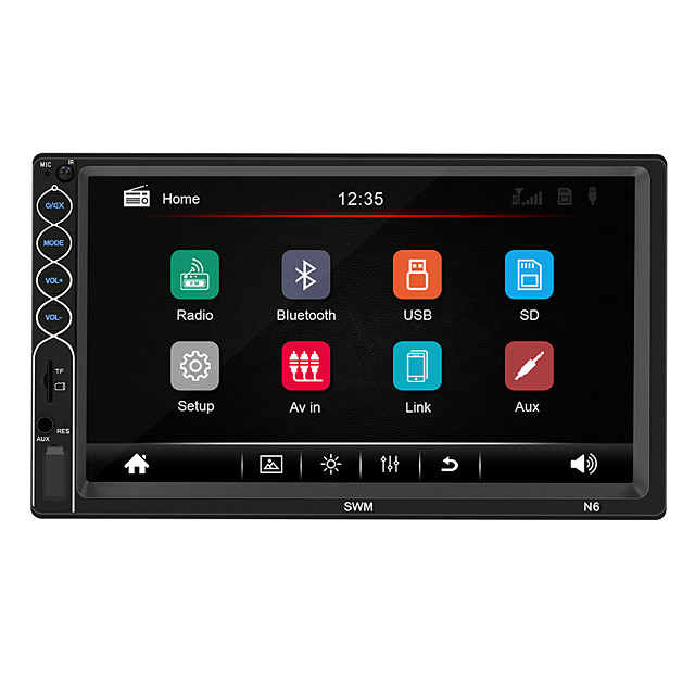 SWM N6 7 inch 1 DIN Windows CE Car MP5 Player / Car MP4 Player / Car MP3 Player Touch Screen / Built-in Bluetooth / SD / USB Support for universal RCA / HDMI / VGA Support MPEG / MPG / WMV MP3 / WMA