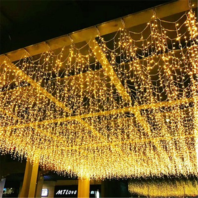 1pcs 3x1m LED Icicle String Lights 120 Leds Christmas Fairy Lights Garland Outdoor Home For WeddingPartyCurtainGarden Decoration