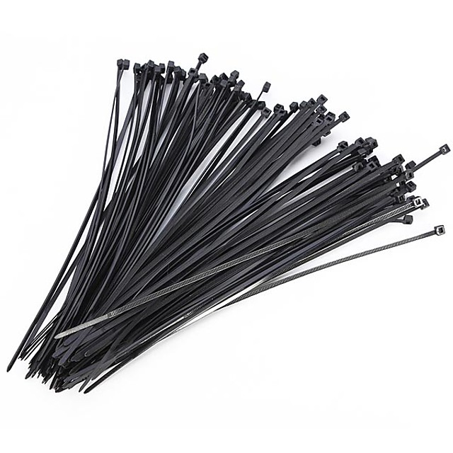 100Pcs Nylon Cable Self-locking Plastic Wire Zip Ties Set  Industrial Supply Fasteners Hardware Cable