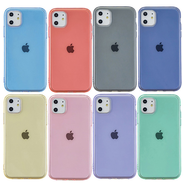 Case For Apple iPhone 11 / iPhone 11 Pro / iPhone 11 Pro Max Frosted / Transparent Back Cover Solid Colored TPU