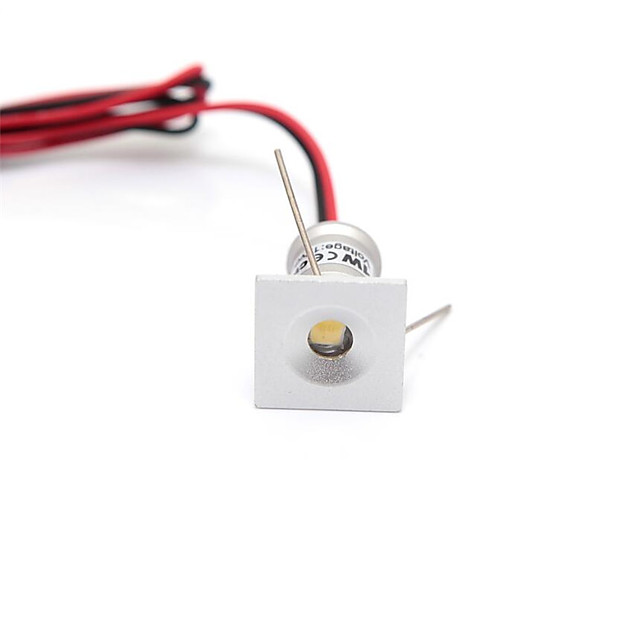 1Pc 1W DC12V  Mini LED Cabinet Lights 12V Downlight 15mm Cut Hole Ceiling Recessed Lamp IP65 For Jewelry Cabinet Display