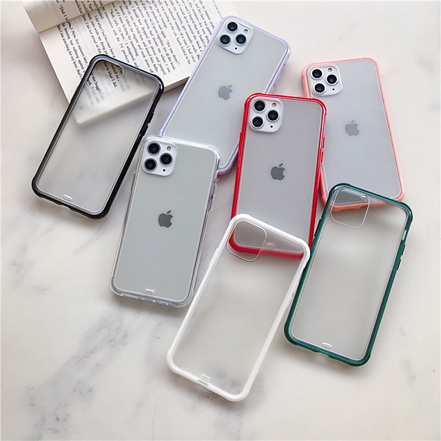 Case For Apple iPhone 11 / iPhone 11 Pro / iPhone 11 Pro Max Frosted Back Cover Solid Colored Acrylic