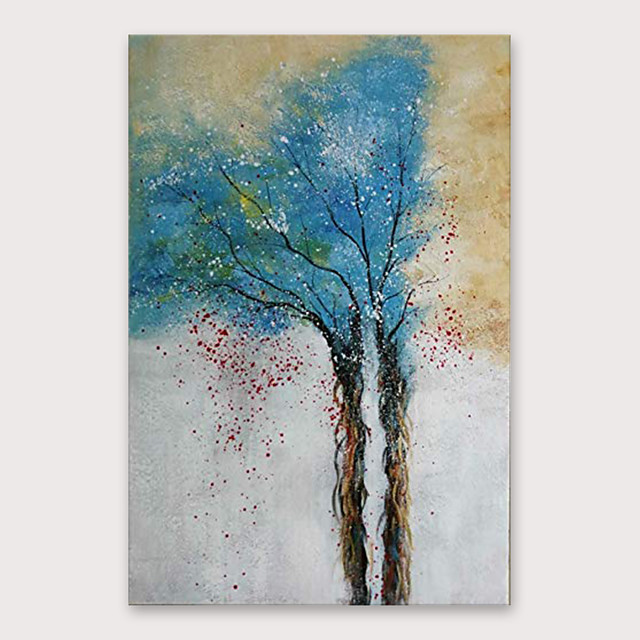 Oil Painting Hand Painted - Abstract Still Life Modern Stretched Canvas