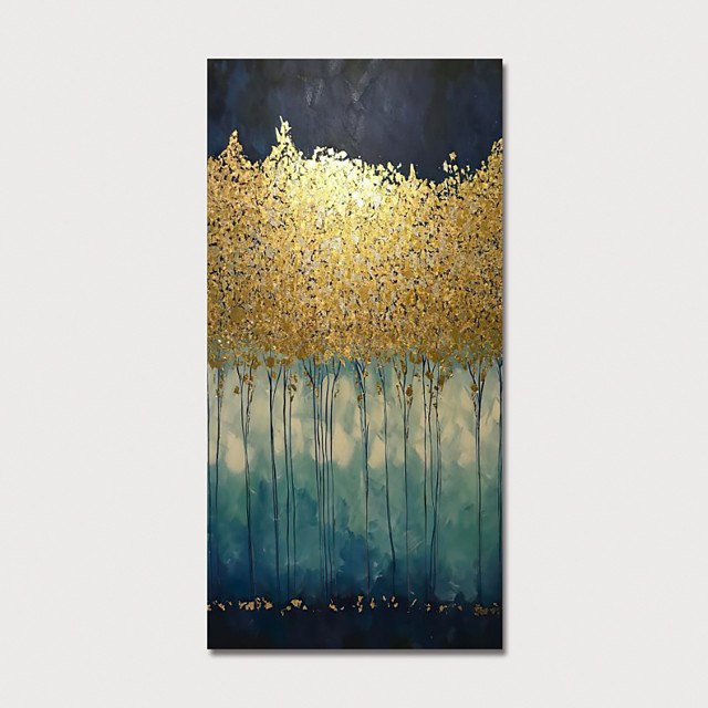 Oil Painting Hand Painted Vertical Abstract Modern Stretched Canvas