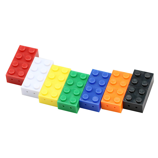Toy Brick Flash Drive 8G USB Flash Drive Colorful 32GB Cartoon Mini Plastic Building Block Pendrive